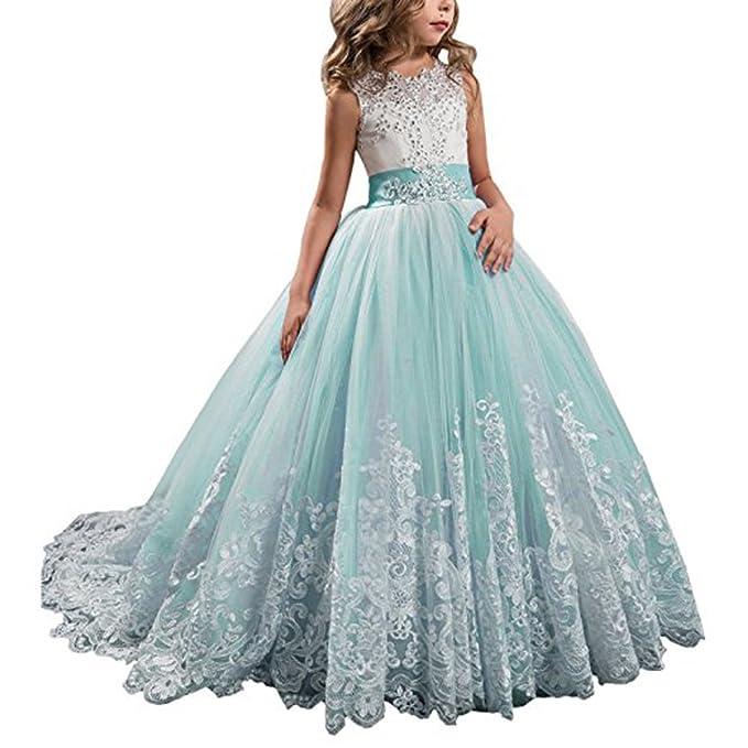 Amazon.com: yipeisha niña de las flores vestidos concurso ...