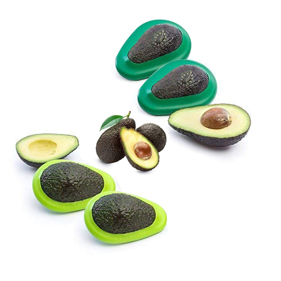Ruibo 3 in 1 Avocado Slicer and Pitter Green - Multi-functional Avocado Peeler Cutter Skinner and Corer Tool