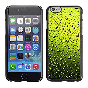 EJOY---Cubierta de la caja de protección la piel dura para el / Apple Iphone 6 Plus 5.5 / --AGUA VERDE GOTAS DE CERVEZA