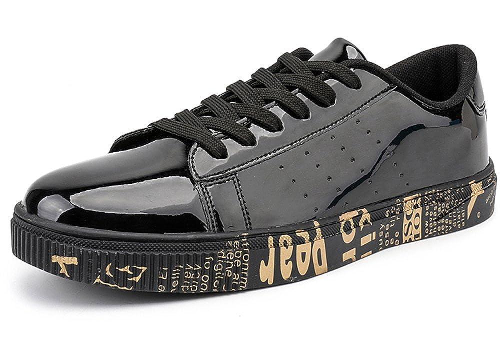 Wangjiaohou Men s Gold Sliver Blue Black Sneakers 4 Color All Match Walking  Casual Slip On Fashion Sneakers  Amazon.ca  Shoes   Handbags 9704a30cf05