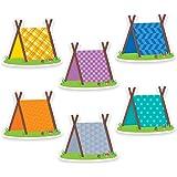 "Creative Teaching Press Woodland Friends Pup Tents 6"" Designer Cut-Outs (6010)"