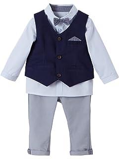 f053a7b7206f4 Bornino Festliche Mode-Set (4-TLG.) für Jungen - Anzug mit Weste ...