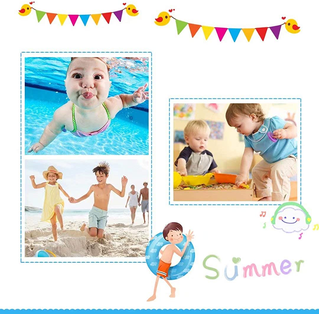 Badeschuhe Kinder Schwimmschuhe Wasserschuhe Schnell Trocknend Strandschuhe Aquaschuhe f/ür Jungen M/ädchen Baby Beach Pool