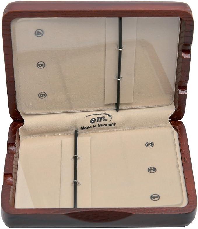 GEWA 751025 - Estuche para cañas saxofón tenor, 6 cañas lacado marrón rojo: Amazon.es: Instrumentos musicales