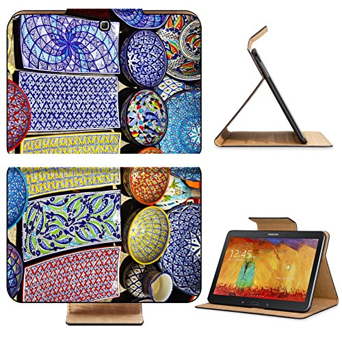 Samsung Galaxy Tab 4 10.1 Tablet Flip Case Traditional clay goods in shop in the medina of TunisTunisia IMAGE 35508910 by MSD Customized Premium Deluxe Pu Leather generation Accessories HD Wifi Luxury