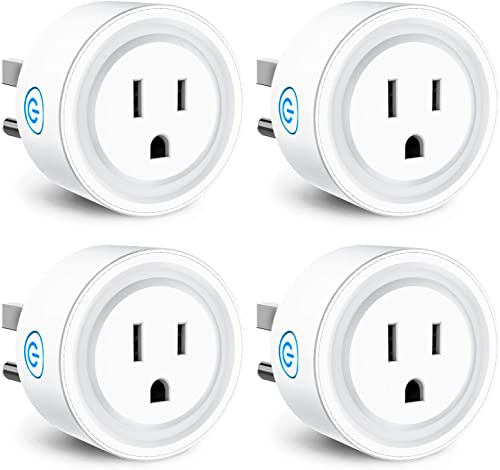 Smart Plug Compatible with Alexa Google Assistant IFTTT Siri Shortcut, Magic Hue WiFi App Control Timer Schedule Smart Outlet, No Hub Required, FCC Certified Smart WiFi Socket – 4 Pack