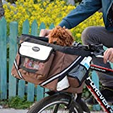 UHeng Pet Dog Cat Bicycle Carriers Safe Shoulder Bike Basket up to 13lbs