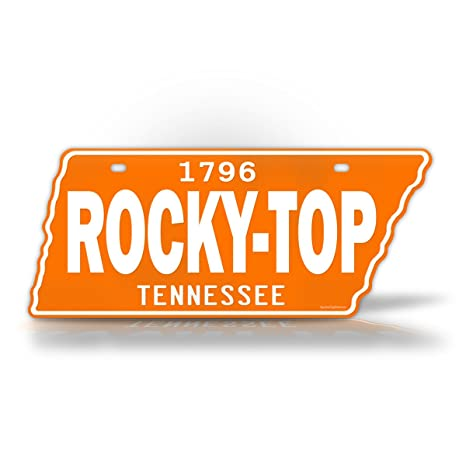 Rocky Top Auto >> Signsandtagsonline Tennessee Rocky Top License Plate Vintage Antique Vols State Shaped Replica Tn Auto Tag