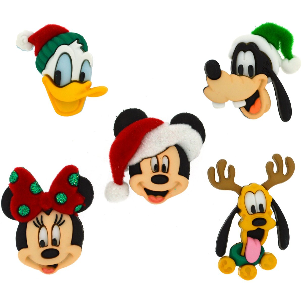 Dress It Up 8236 Disney Button   Embellishments  Holiday Heads