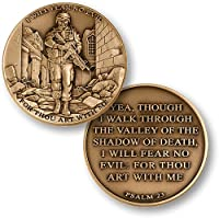 I Will Fear No Evil - Psalm 23 Coin