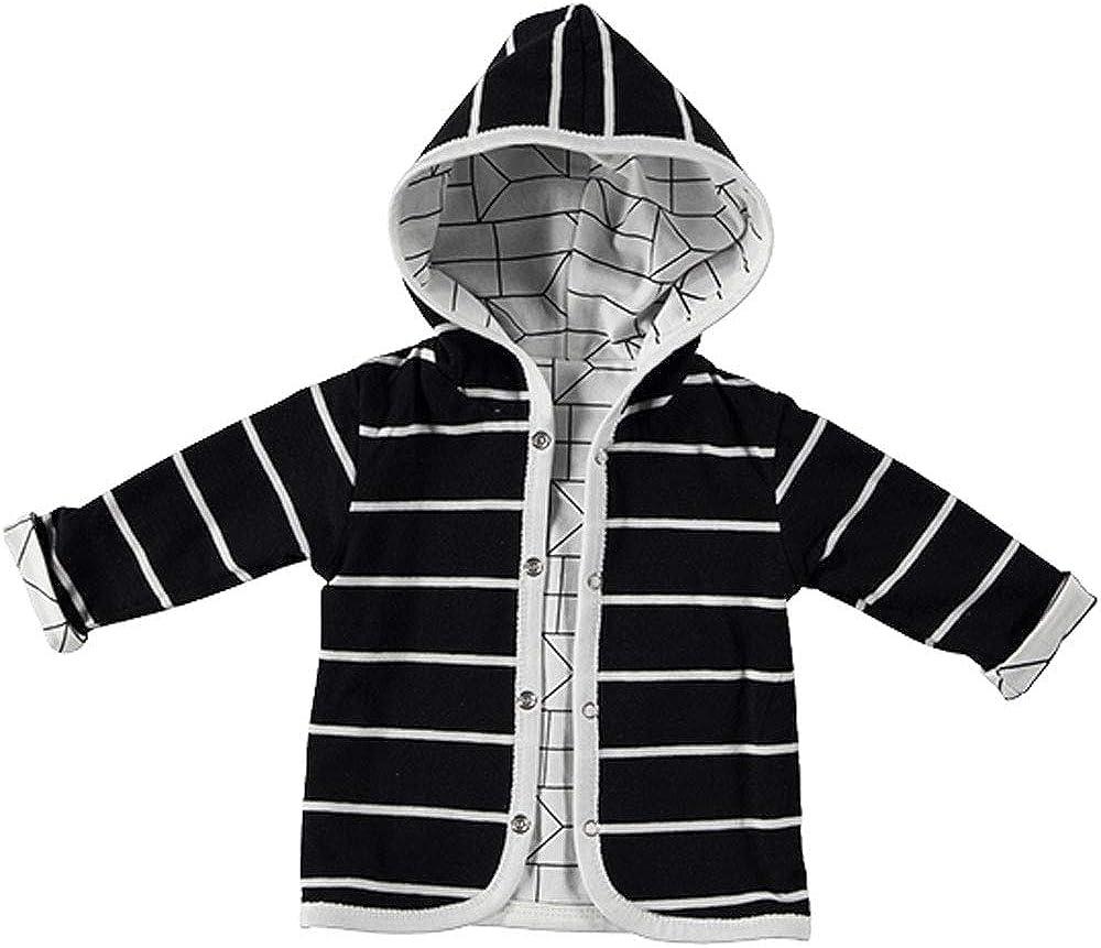 Sweat-Cardigan BESS Baby Wende-Jacke mit Kapuze schwarz//wei/ß