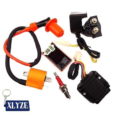 Amazon com: XLYZE Racing Ignition Coil AC CDI Spark Plug Regulator
