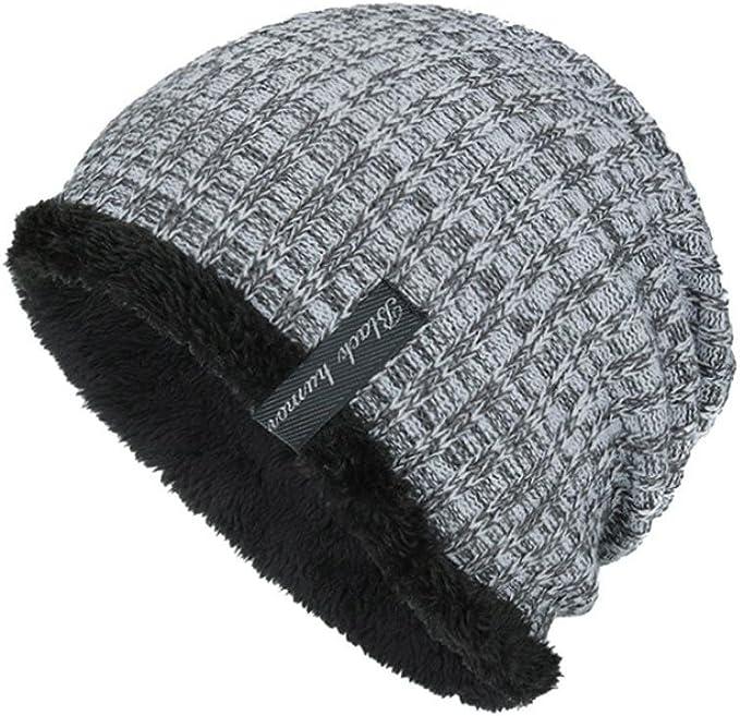 Weiche Warme Beanie Mütze Winter-Mütze Unisex Stretch Strick-Mütze Slouch