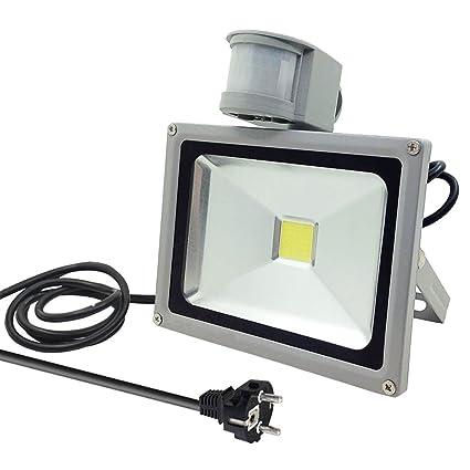 GLW 20W blanco frío PIR sensor de movimiento,LED Foco proyector Luz,Foco proyector