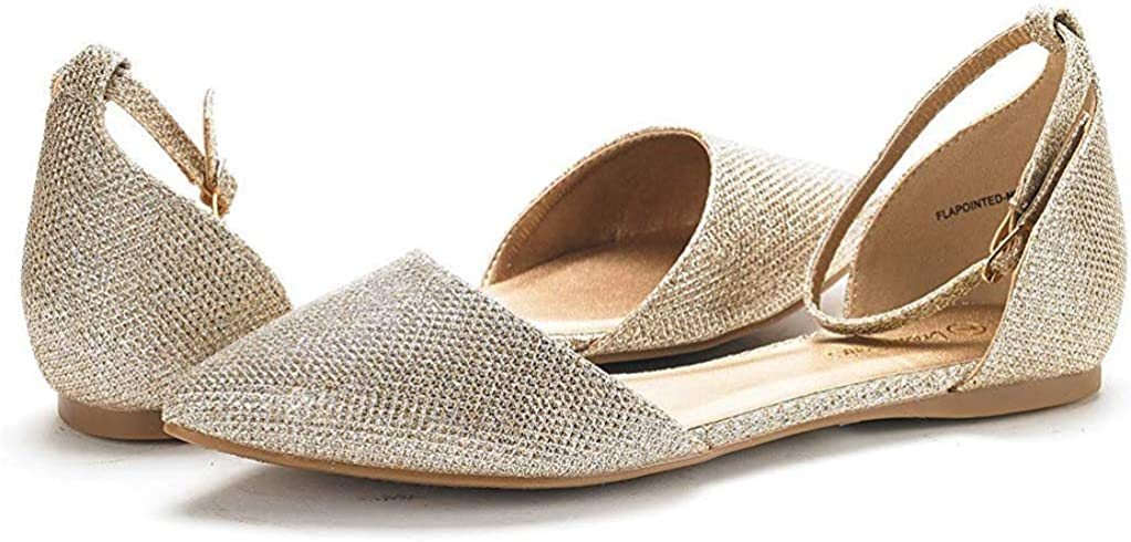DREAM PAIRS Flapointed New Womens Casual DOrsay Pointed Plain Ballet Comfort Soft Slip On Flats Shoes