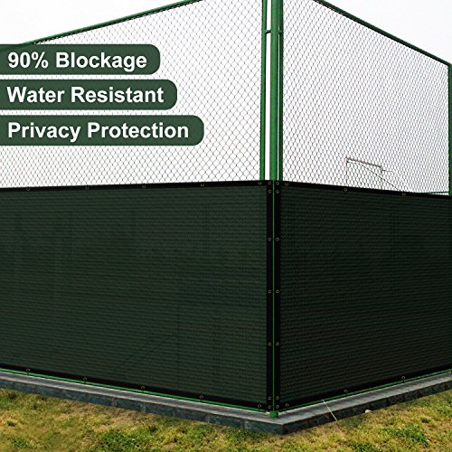 Coarbor 6' x 50' Privacy Fence Screen with Brass Grommets Heavy Duty 140GSM Pefect for Outdoor Back Yard and Deck Green by Coarbor