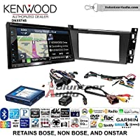Volunteer Audio Kenwood DNX574S Double Din Radio Install Kit with GPS Navigation Apple CarPlay Android Auto Fits 2006-2010 Cadillac DTS