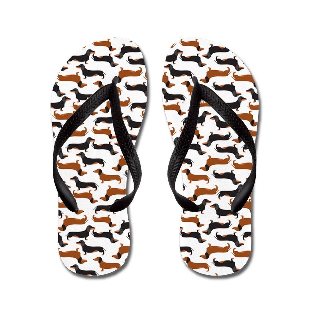 CafePress Dachshund White - Flip Flops, Funny Thong Sandals, Beach Sandals
