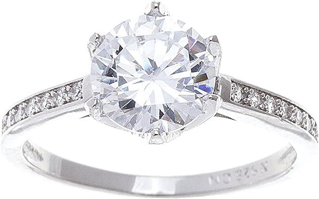 Li-Never Cube Big Stone Cz Zircon Silver Ring for Women Fashion Jewelry