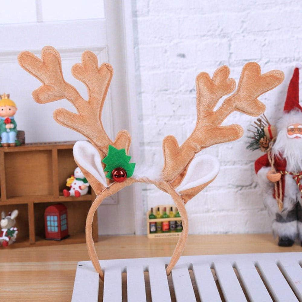 Natale con corna di albero e rami alce e renne per cosplay Fascia per capelli da donna e ragazza Carolilly decorazione da festa retr/ò