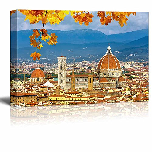 - wall26 - Canvas Prints Wall Art - Duomo Cathedral in Florence in Autumn | Modern Wall Decor/Home Decoration Stretched Gallery Canvas Wrap Giclee Print. Ready to Hang - 24