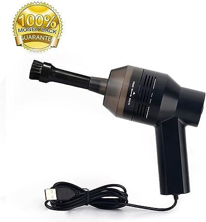 bonanic USB Teclado de escritorio Mini aspiradora herramienta de recogida de polvo limpiador con cepillo para