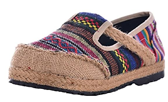 Amazon.com | TANGZHIWU Womens Handmade Espadrilles Round Toe Slip-on Canvas Chinese Flats Loafer Shoe | Shoes