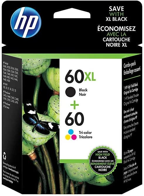 HP 1789466 60XL Black High-Yield & 60 Tri-Color Ink Cartridges 2-Pack (N9H59FN)