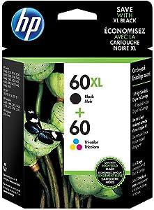 HP 1789466 60XL Black High-Yield & 60 Tri-Color Ink Cartridges 2-Pack (N9H59FN)
