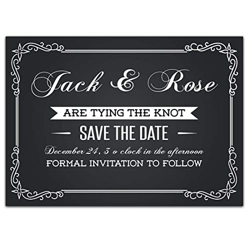 Amazon Com Chalkboard Save The Date Card Wedding Invitation