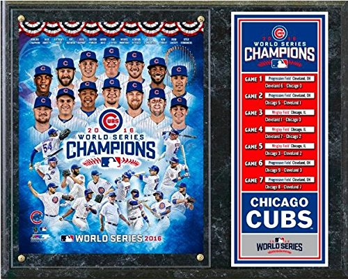 (Chicago Cubs 2016 World Series Photo Plaque (Size: 12