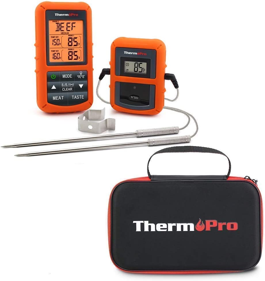 ThermoPro ThermPro TP20 Wireless Digital Meat Thermometer with Dual Probes TP99 Storage Case for TP20