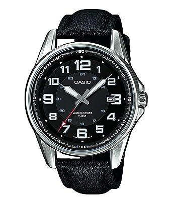 840c4eba8e96 Casio Reloj Analógico para Hombre de Cuarzo con Correa en Cuero  MTP-1372L-1BVEF  Amazon.es  Relojes