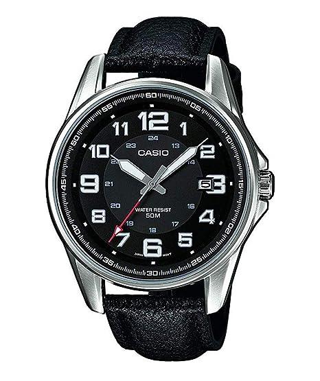 57e2da82dae4 Casio Reloj Analógico para Hombre de Cuarzo con Correa en Cuero MTP-1372L-1BVEF   Amazon.es  Relojes
