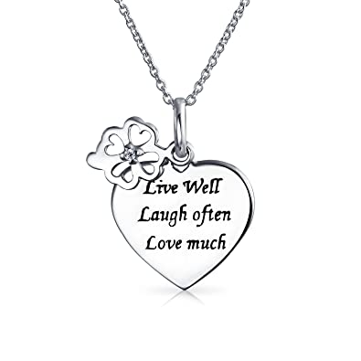 975a6db537a Amazon.com  Personalized Live Love Laugh WORD Circle Charm Heart ...