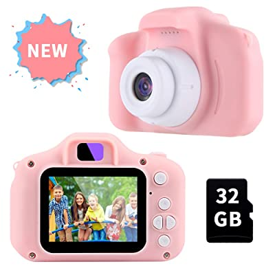 OMWay Gifts for 3 4 5 6 7 8 Year Old Girls, Camera for Kids, Toys for 5 6 7 8 Year Old Toddlers,Kids Christmas Easter Gifts, 12MP HD Video Camera, Pink(32GB SD Card Included).: Camera & Photo
