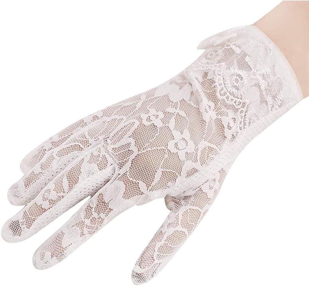 Damen F/äustlinge Handschuhe Fahrradhandschuhe Touchscreen Gloves Lace Spitze Netzhandschuhe Atmungsaktiv Anti-UV Sonnenschutz Sommerhandschuhe f/ür Frauen Kost/üm Accessoires