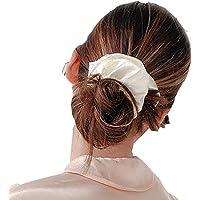 KEY BEAUTY 100% Silk Hair Bands Hair Ties Elegant IvoryHair Elastics Scrunchies 100% Silk Hair Bands Hair Ties