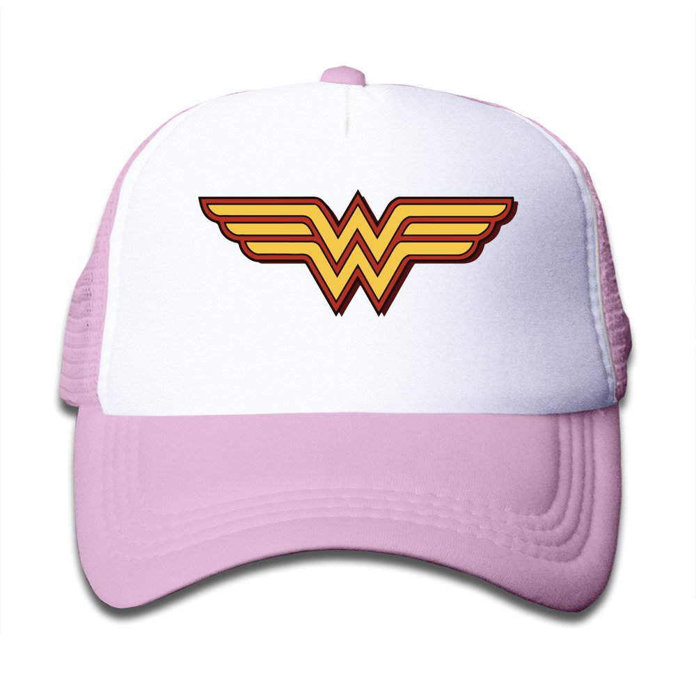 a798f9378ac CUG Wonder Woman Gal Gadot Pink Toddler Snapback Adjustable Mesh Hat Apparel
