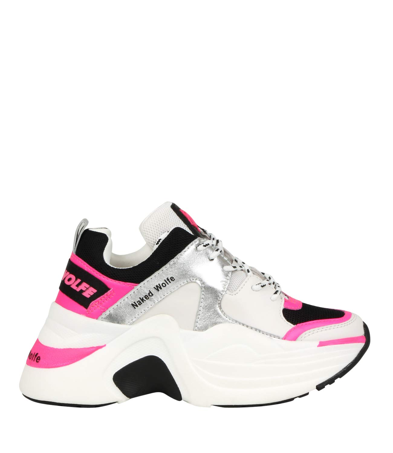 Nacked Wolfe Sneakers Track neon Pink