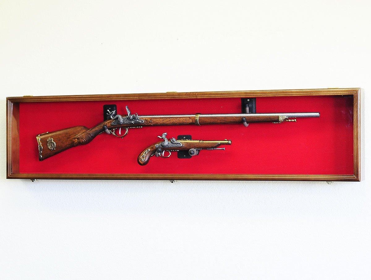 Single Rifle Display Case Wall Rack Cabinet w UV