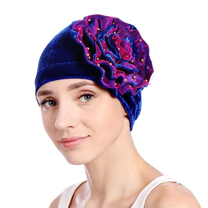 Molre-yan Gorro de Turbante de Mujer Pearl Gorro Elegante de Turbante Gorro  de quimioterapia Gorro Gorro de Cabeza  Amazon.es  Ropa y accesorios d91c1ec09be