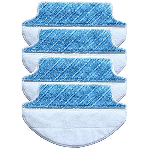 4-pack Wet & Dry Microfiber Mop Pad Mopping Cloth For Ecovacs Deebot DT85 DT83 eDM81