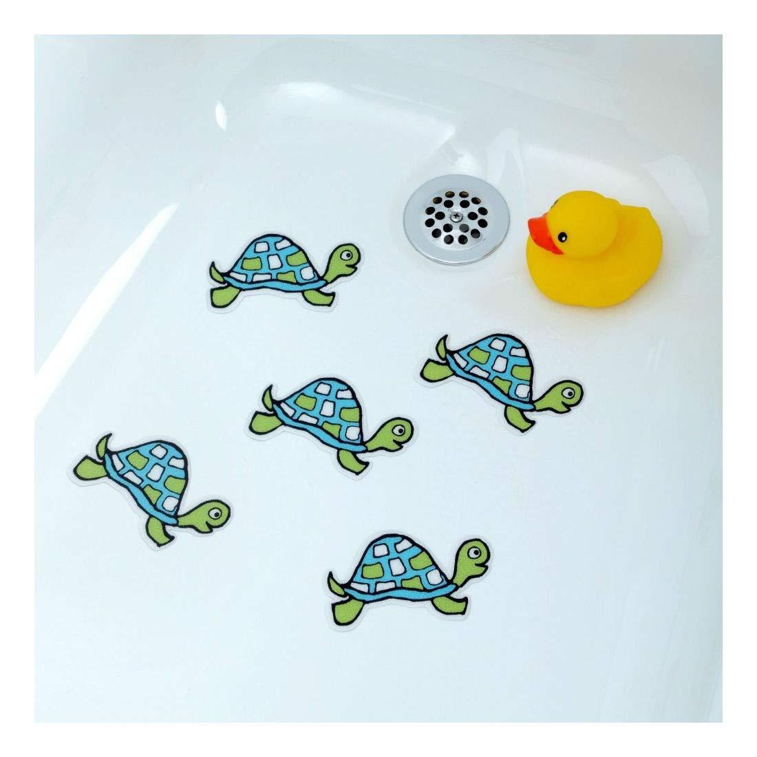 Turtle Bathtub Stickers for Kids & Babies Shower Decals Treads Non-Slip Applique