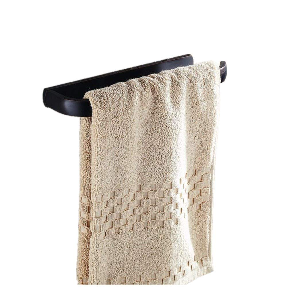 Beelee BA7411B Bath Towel Holder Hand Towel Ring Hanging Towel Hanger Bathroom Accessories Contemporary Hotel Square Style Wall Mount, Oil Rubbed Bronze