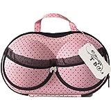 Travel Bra Packing Organizer Case/Underwear/Lingerie/Panties/Bikinis/Bra sizes: 30A-36C by THE COOL BRA (Pink)