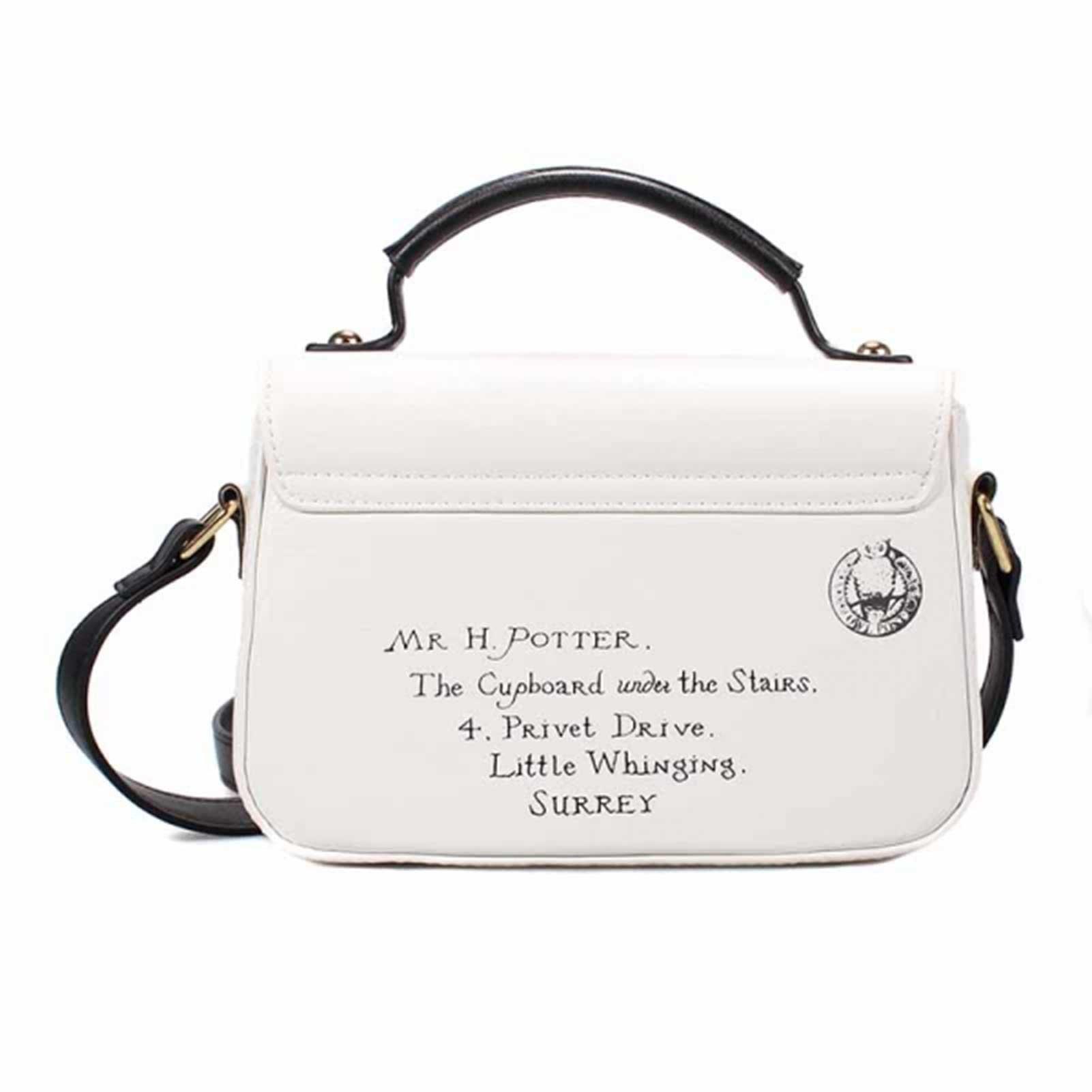Harry Potter Satchel Bag Mini Hogwarts Letters Privet Drive Official White