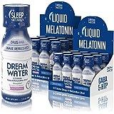 Dream Water Natural Sleep Aid, GABA, MELATONIN, 5-HTP, 2.5oz Shot, Snoozeberry, 24 Count Economy Value Pack