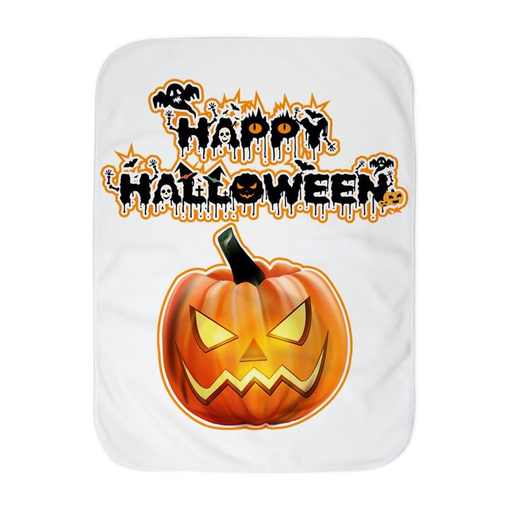 Royal Lion Baby Blanket White Happy Halloween Pumpkin