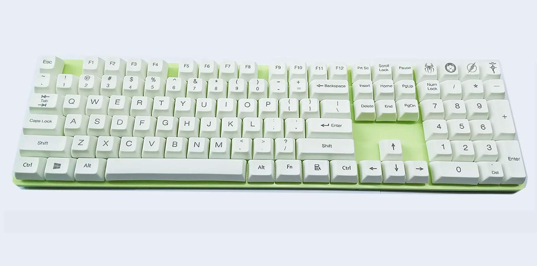 SSSLG SA Keycaps, Keybaps Blancos Materiales de Pbt, 108 ...